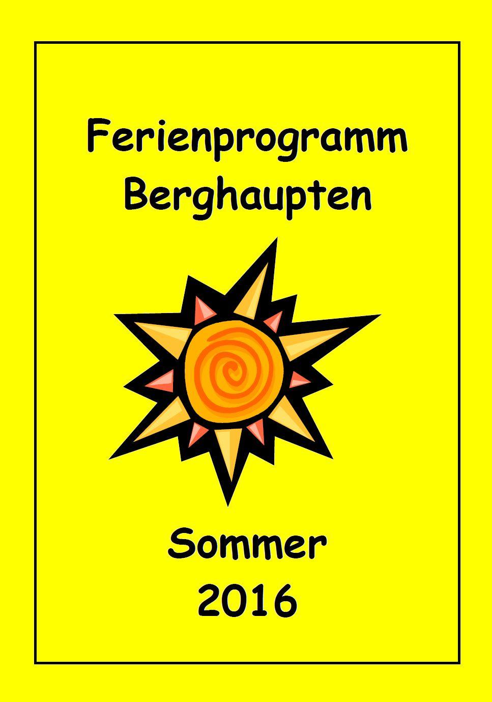 Aktuelle Infos zum Sommer-Ferienprogramm