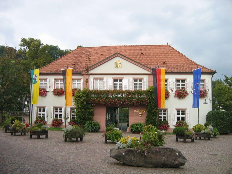 Rathaus-mit-Flaggen