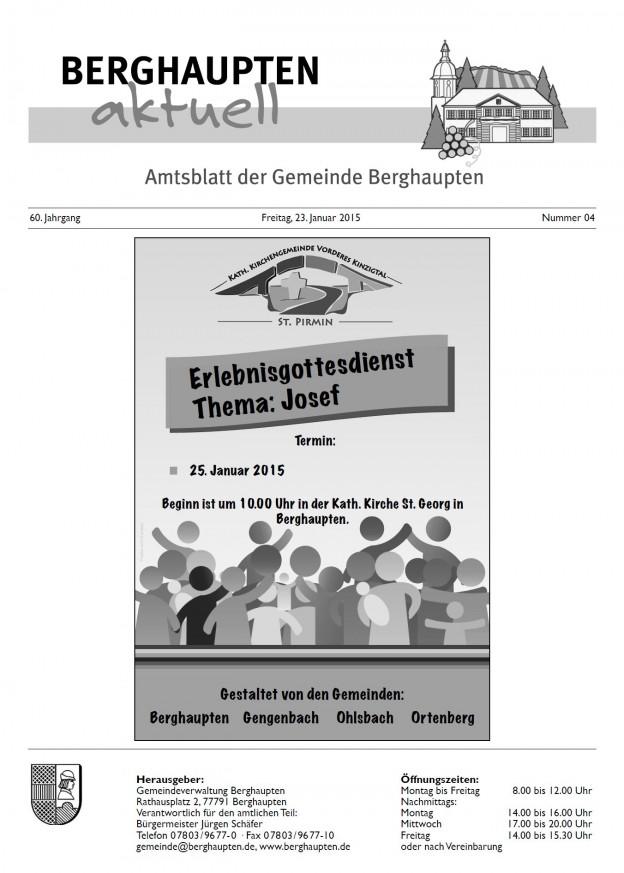 Titelseite Amtsblatt KW4