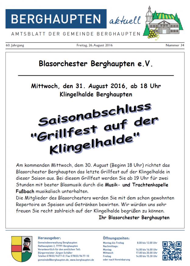 Amtsblatt KW 34 Titelbild