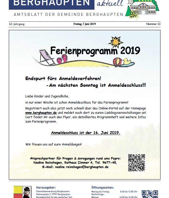 Amtsblatt 2019 KW 23
