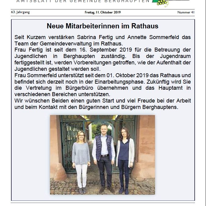 Amtsblatt 2019 KW 41