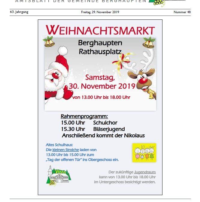 Amtsblatt 2019 KW 48