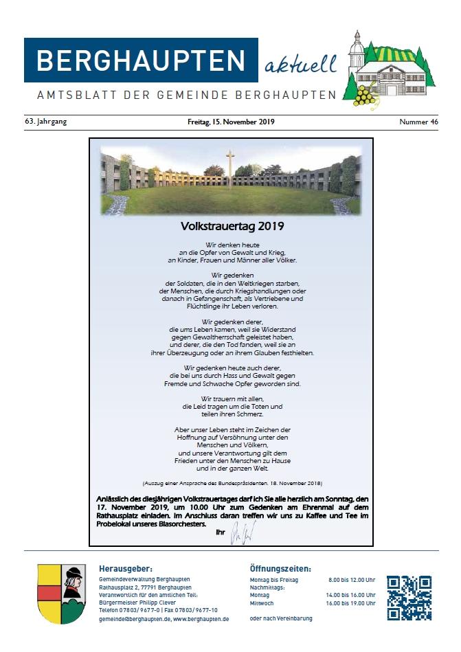 Amtsblatt 2019 KW 46