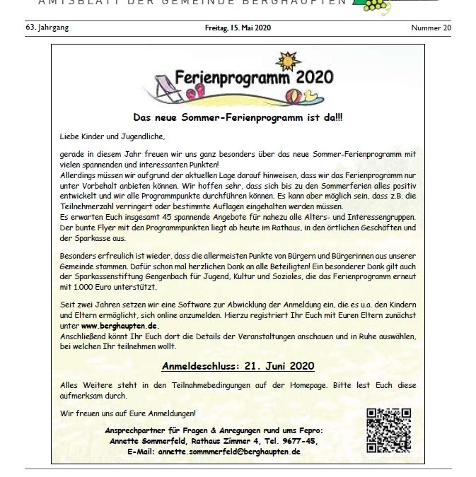 Amtsblatt 2020 KW 20