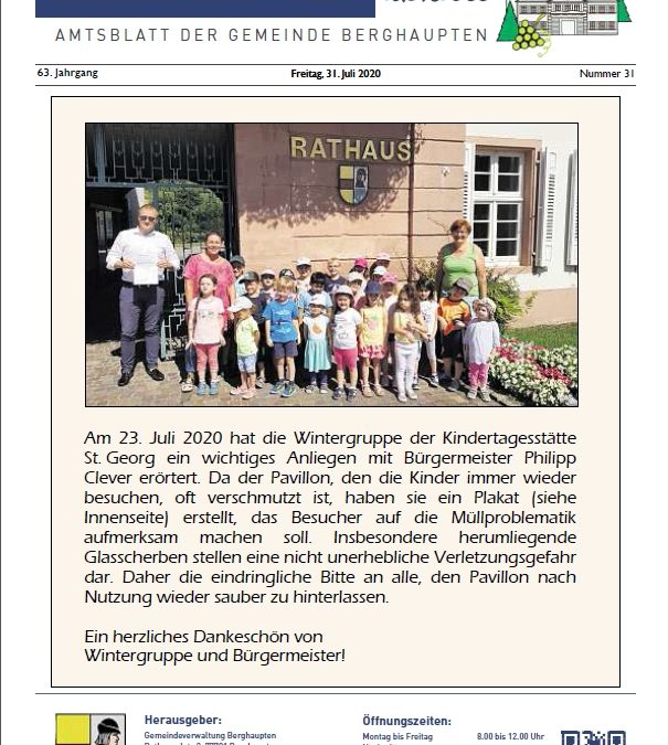 Amtsblatt 2020 KW 31