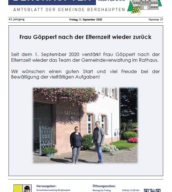 Amtsblatt 2020 KW 37