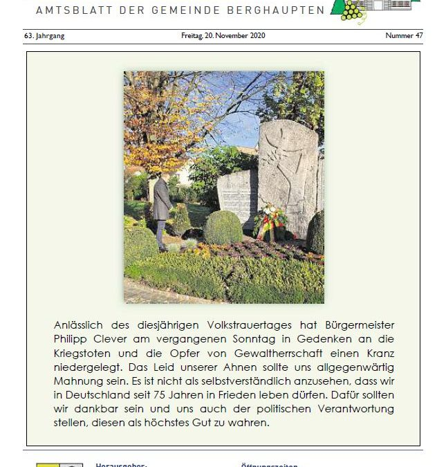 Amtsblatt 2020 KW 47