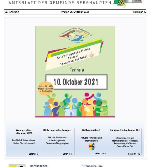Amtblatt 2021 KW 40